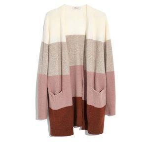 Madewell Kent Colorblock Cardigan Striped Size M